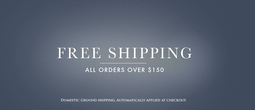 Free shipping for domestic orders over 150