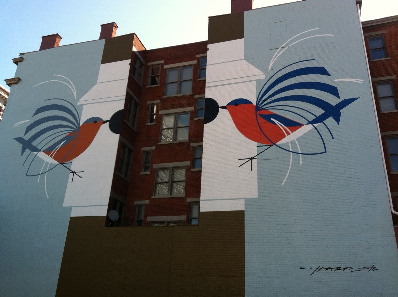 1000 images about trompe l oeil murales street art on for Charley harper mural
