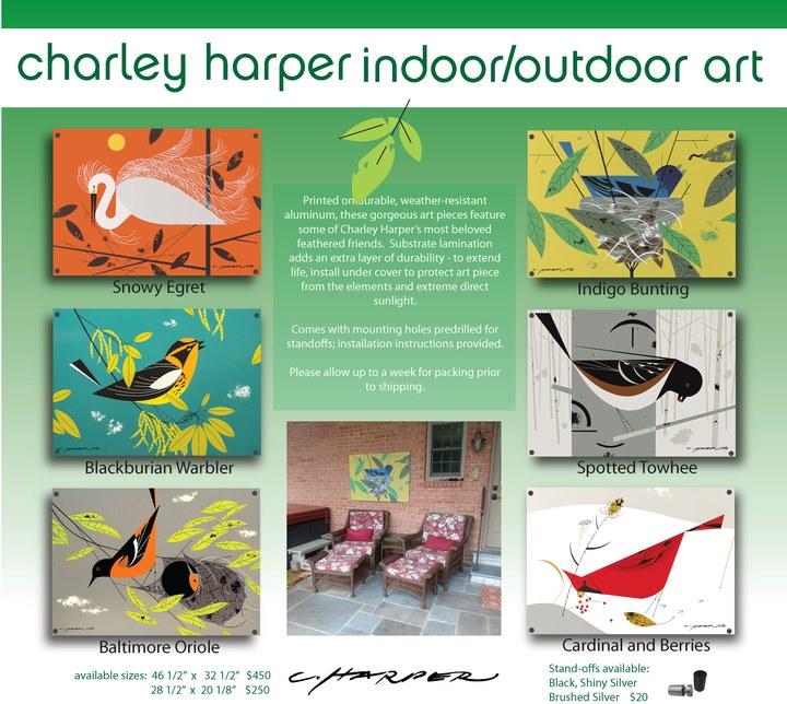 Charley Harper Indoor/Outdoor Artwork